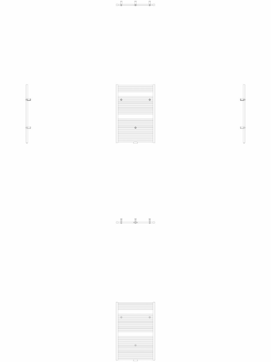 Pagina 1 - CAD-DWG Calorifer decorativ IRIS-HDM 690-750 2D VASCO Detaliu de produs
