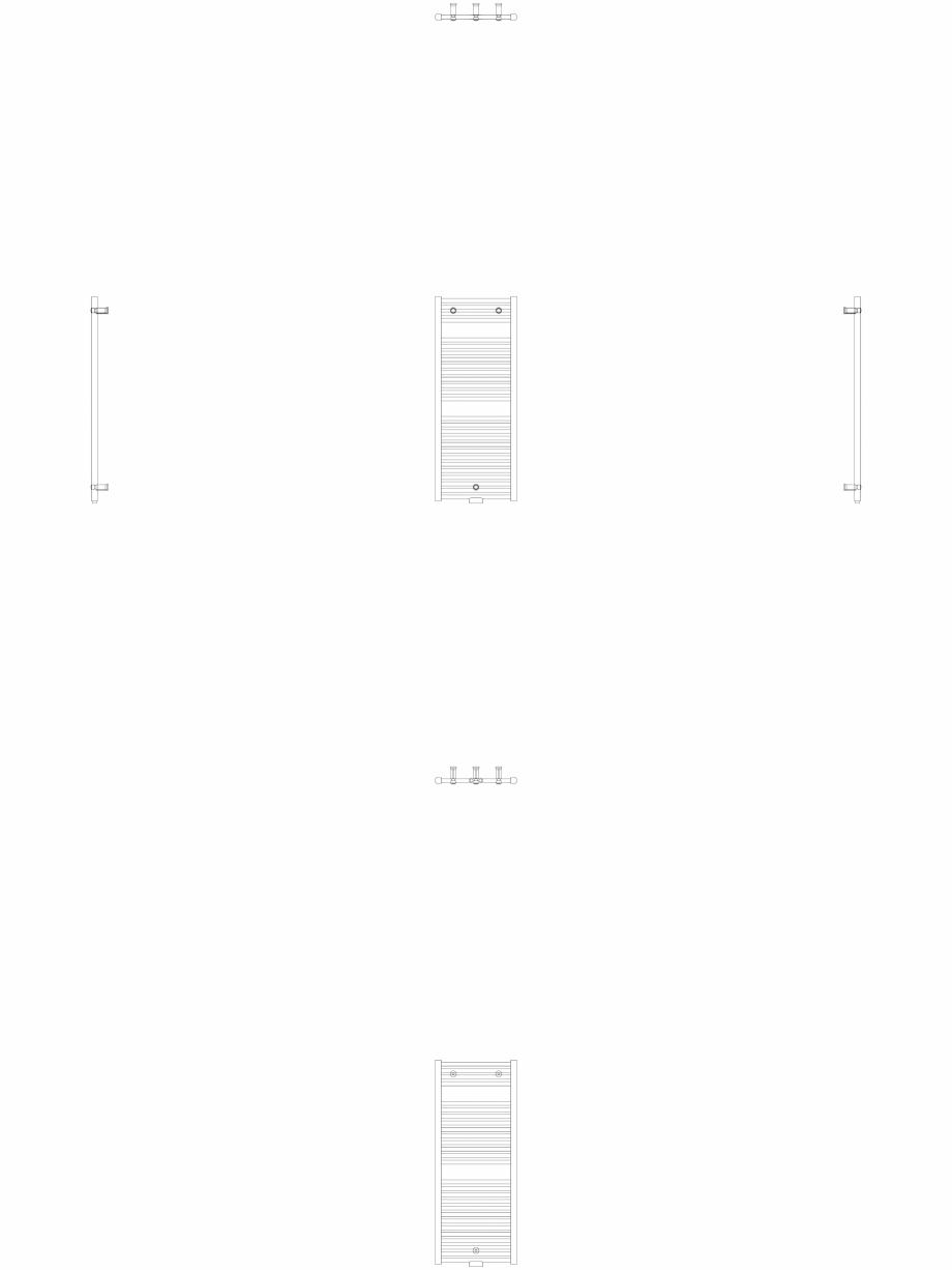 Pagina 1 - CAD-DWG Calorifer decorativ IRIS-HDM 1122-450 2D VASCO Detaliu de produs