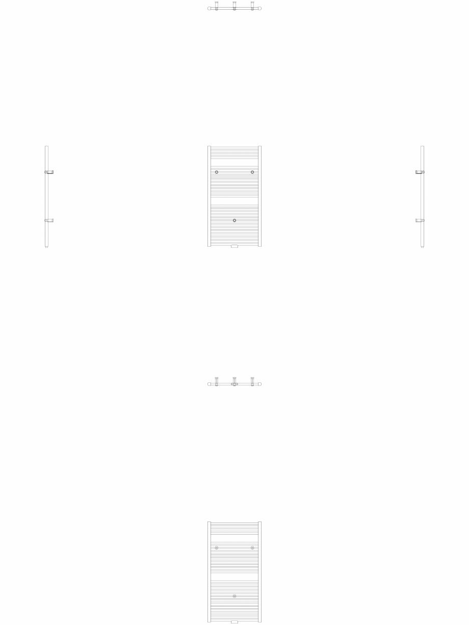 Pagina 1 - CAD-DWG Calorifer decorativ IRIS-HDM 690-600 2D VASCO Detaliu de produs