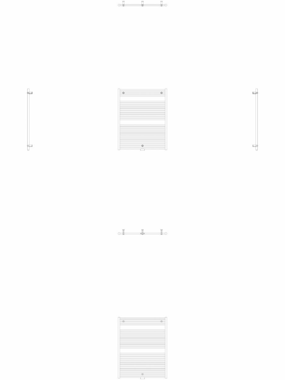 Pagina 1 - CAD-DWG Calorifer decorativ IRIS-HDM 1122-900 2D VASCO Detaliu de produs