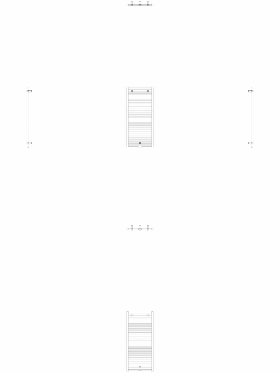 Pagina 1 - CAD-DWG Calorifer decorativ IRIS-HDM 1122-500 2D VASCO Detaliu de produs