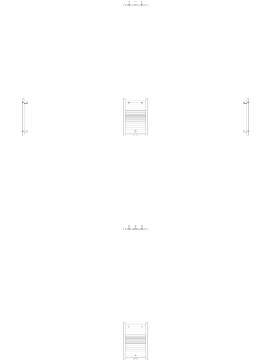 Pagina 1 - CAD-DWG Calorifer decorativ IRIS-HDM 690-450 2D VASCO Detaliu de produs