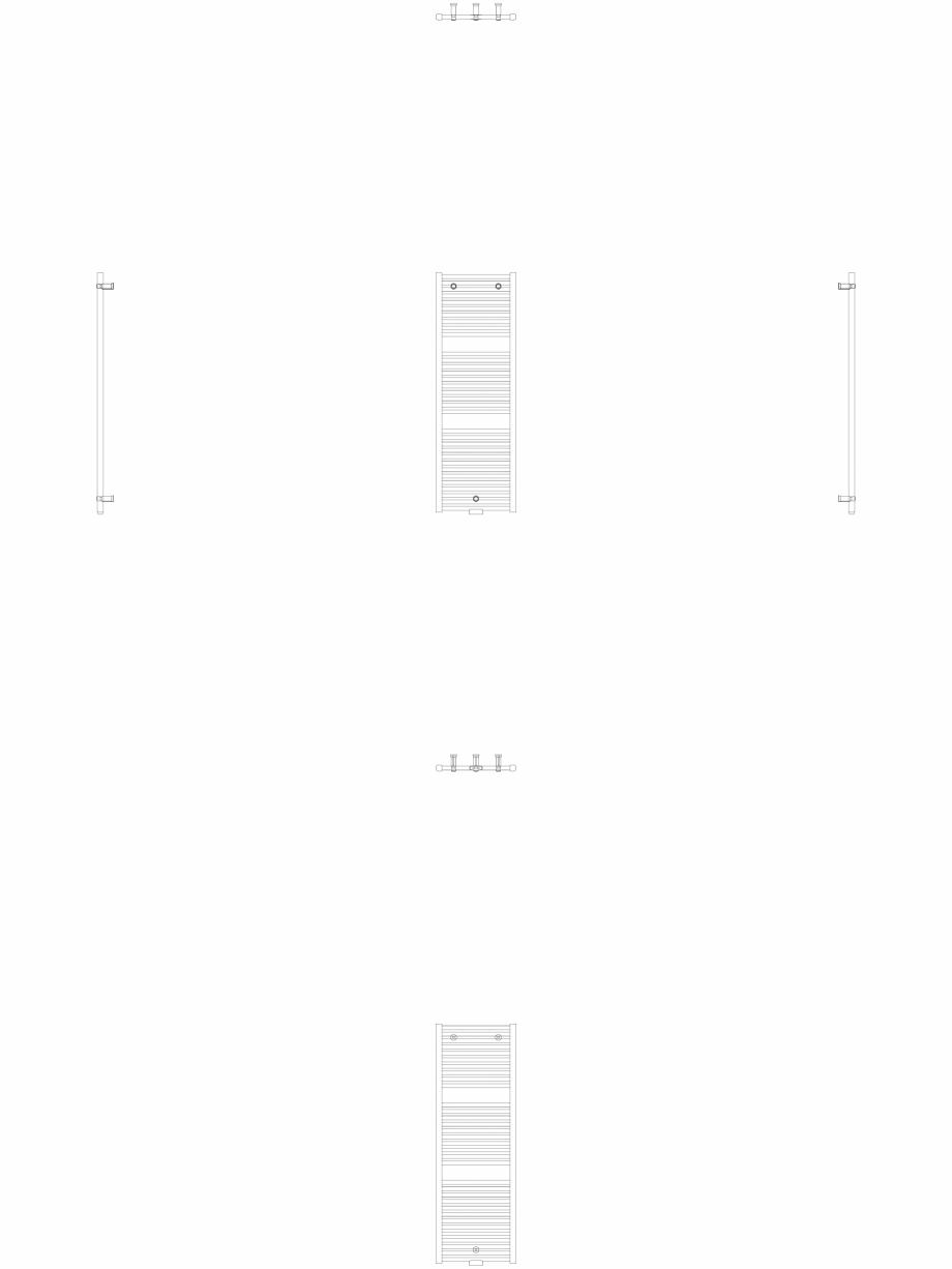Pagina 1 - CAD-DWG Calorifer decorativ IRIS-HDM 1338-450 2D VASCO Detaliu de produs