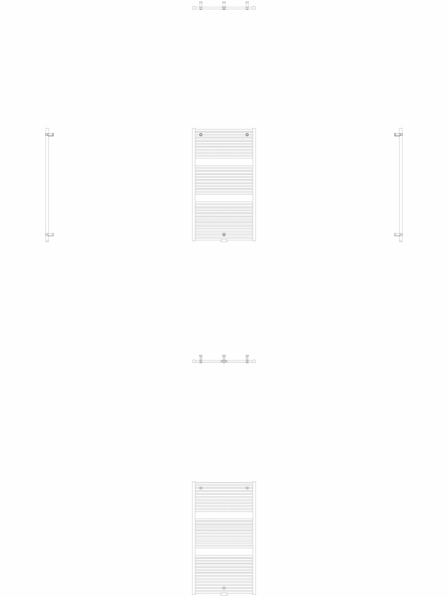 Pagina 1 - CAD-DWG Calorifer decorativ IRIS-HDM 1338-750 2D VASCO Detaliu de produs