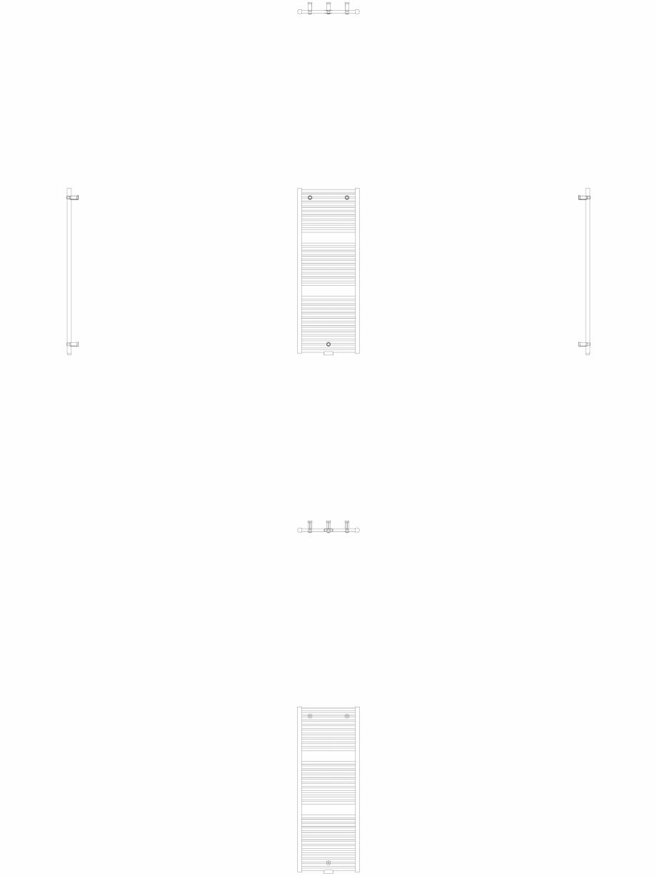 Pagina 1 - CAD-DWG Calorifer decorativ IRIS-HDM 1338-500 2D VASCO Detaliu de produs