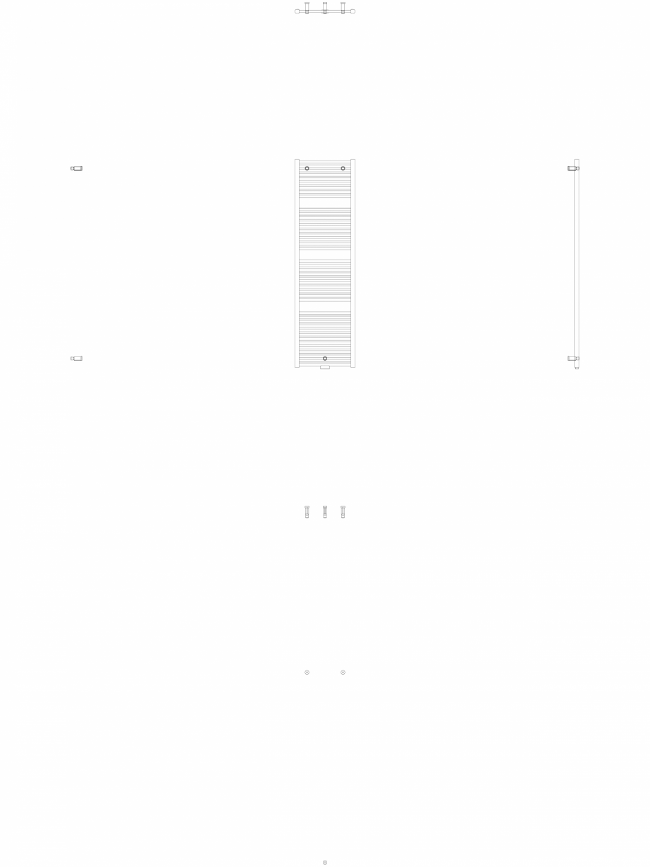 Pagina 1 - CAD-DWG Calorifer decorativ IRIS-HDM 1734-500 2D VASCO Detaliu de produs