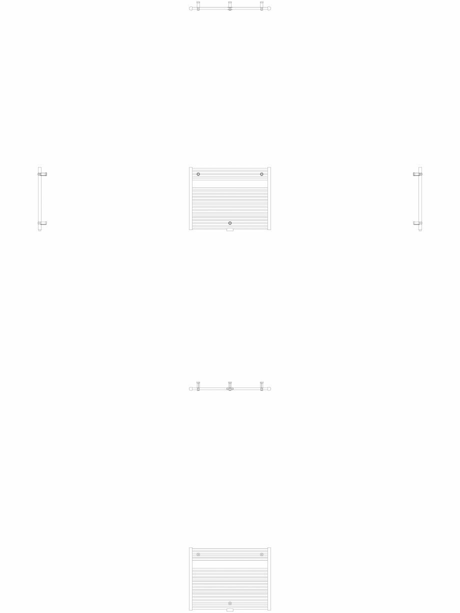 Pagina 1 - CAD-DWG Calorifer decorativ IRIS-HDM 690-900 2D VASCO Detaliu de produs