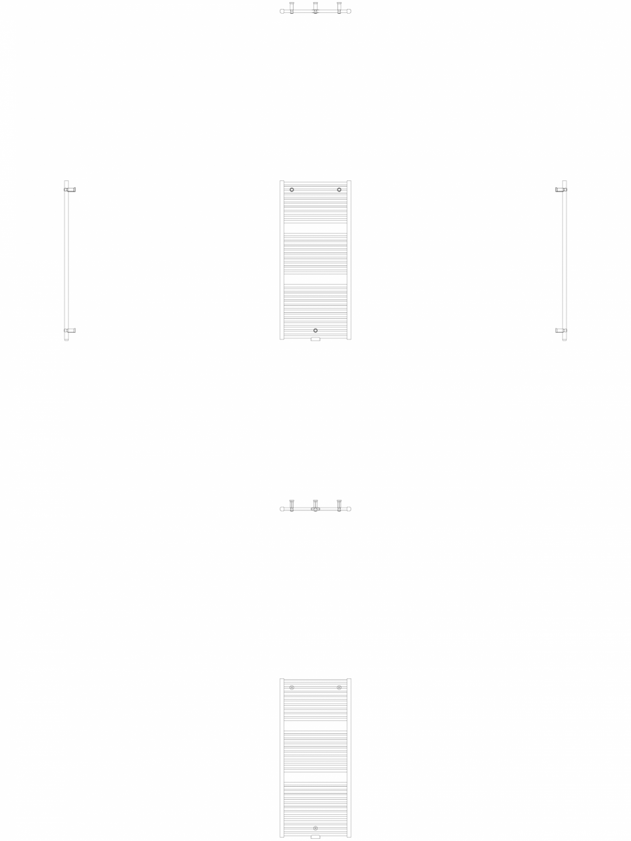 Pagina 1 - CAD-DWG Calorifer decorativ IRIS-HDM 1338-600 2D VASCO Detaliu de produs