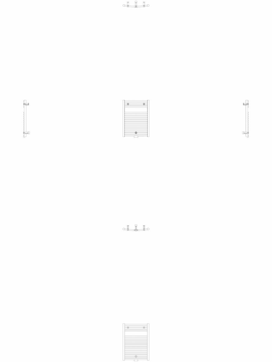 Pagina 1 - CAD-DWG Calorifer decorativ IRIS-HDRM 690-500 2D VASCO Detaliu de produs