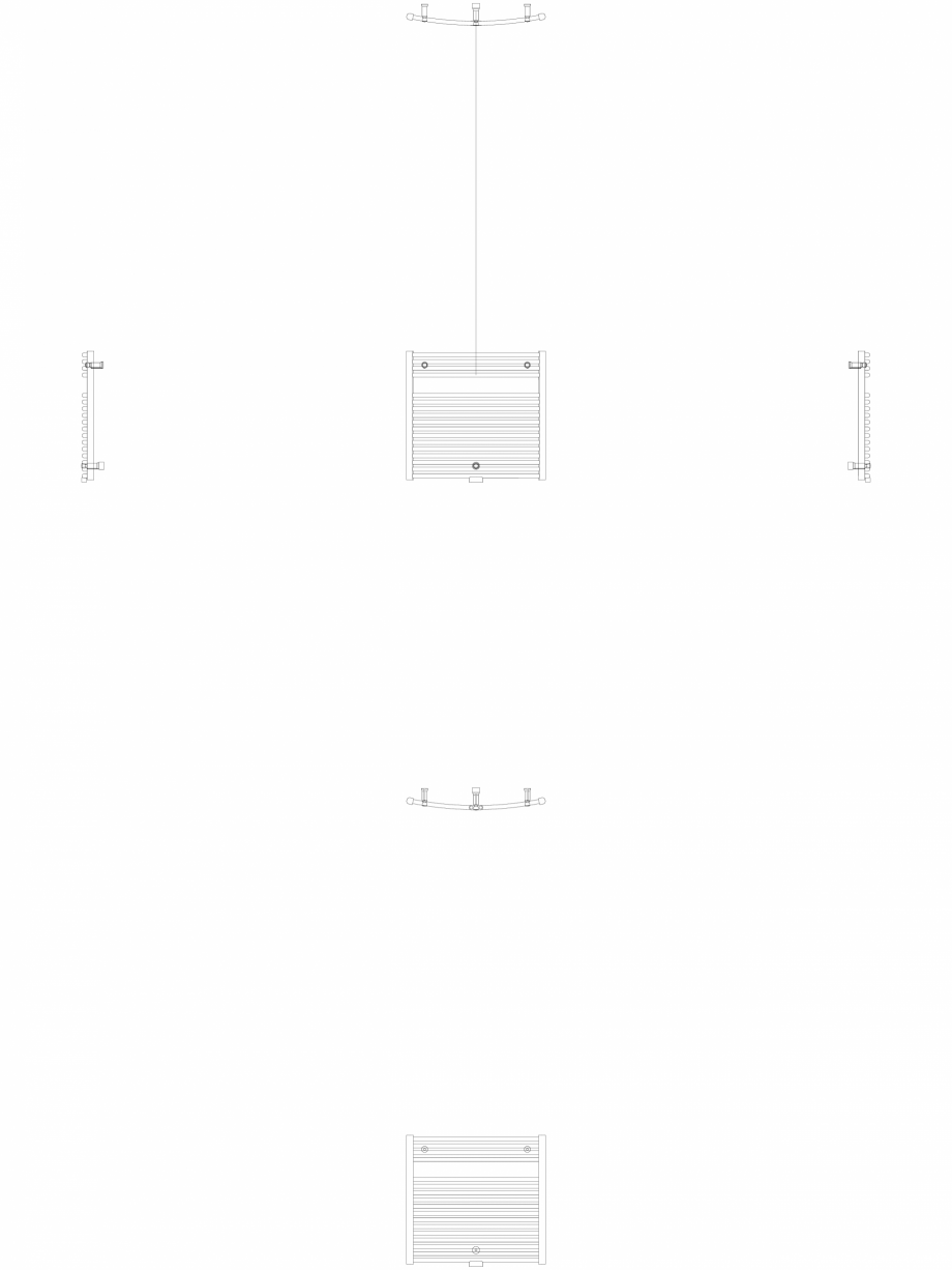 Pagina 1 - CAD-DWG Calorifer decorativ IRIS-HDRM 690-750 2D VASCO Detaliu de produs