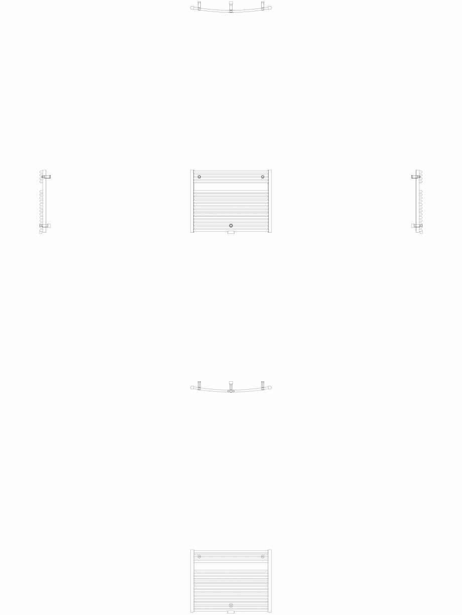 Pagina 1 - CAD-DWG Calorifer decorativ IRIS-HDRM 690-900 2D VASCO Detaliu de produs