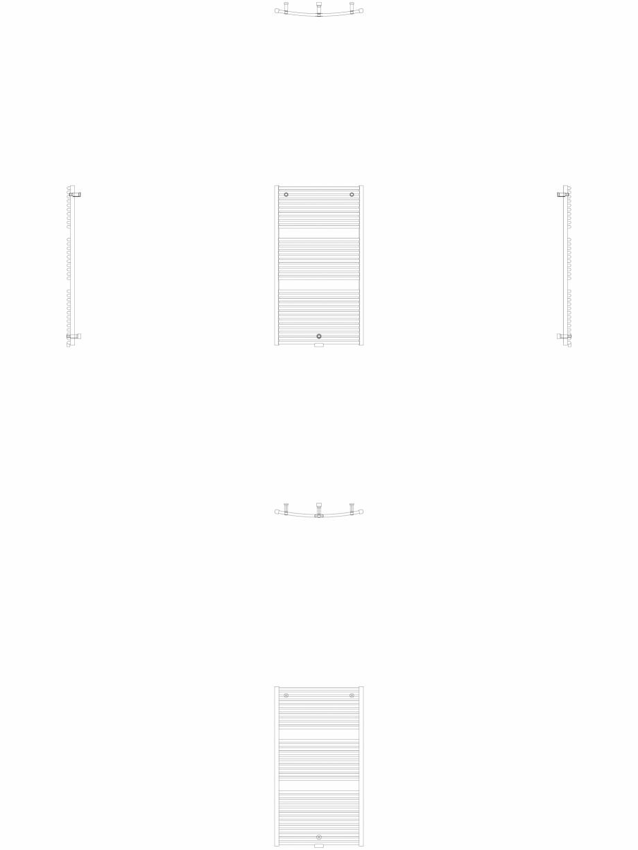 Pagina 1 - CAD-DWG Calorifer decorativ IRIS-HDRM 1338-750 2D VASCO Detaliu de produs
