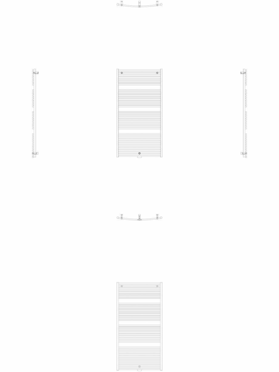 Pagina 1 - CAD-DWG Calorifer decorativ IRIS-HDRM 1734-900 2D VASCO Detaliu de produs