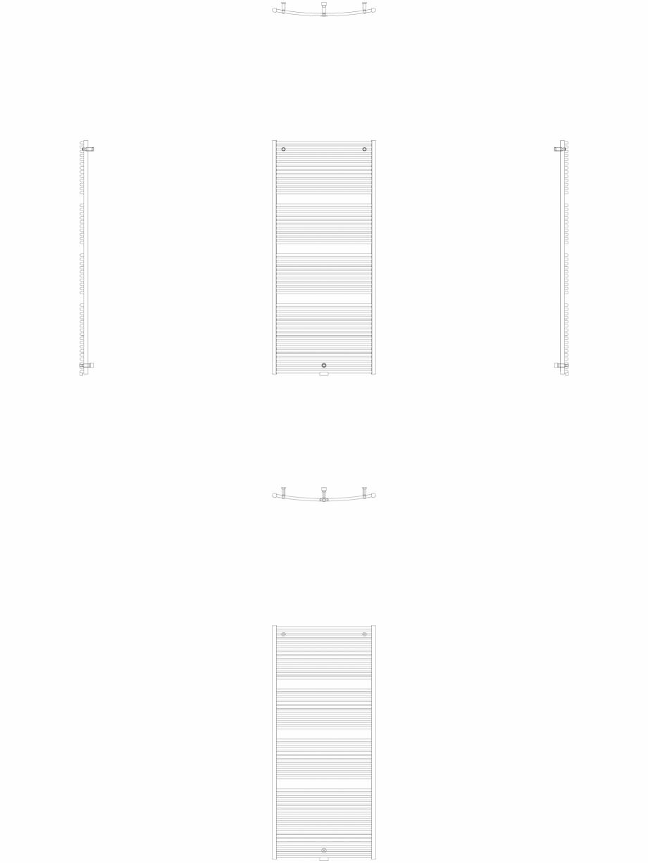 Pagina 1 - CAD-DWG Calorifer decorativ IRIS-HDRM 2022-900 2D VASCO Detaliu de produs