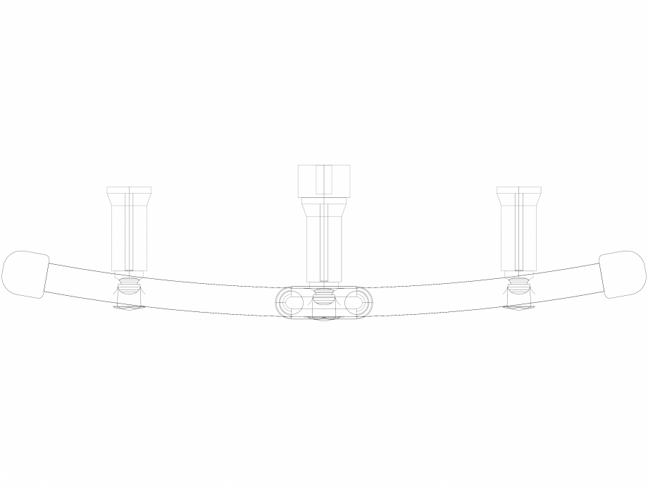 Pagina 1 - CAD-DWG Calorifer decorativ IRIS-HDRM 1338-500 3D VASCO Detaliu de produs