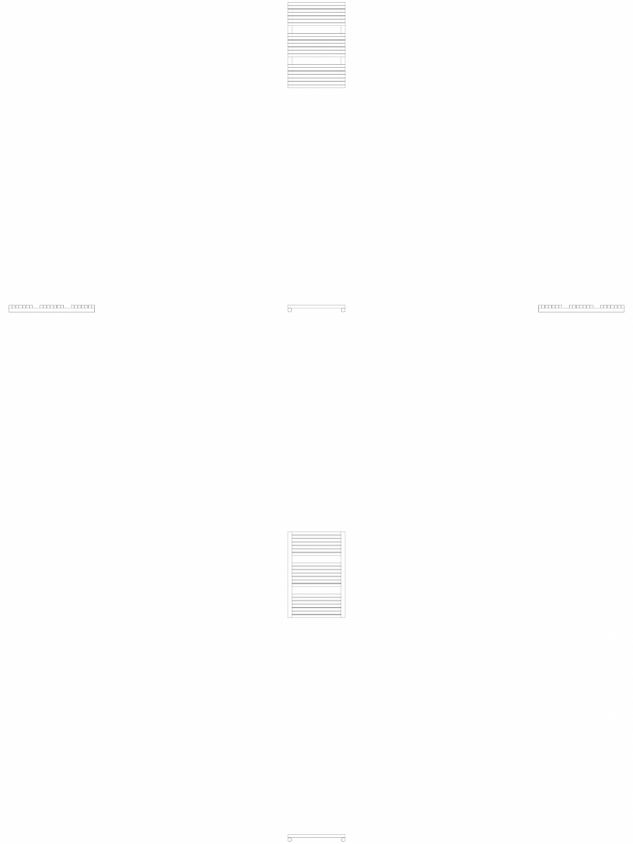 Pagina 1 - CAD-DWG Calorifer decorativ CARRE-CB 745-500 2D VASCO Detaliu de produs