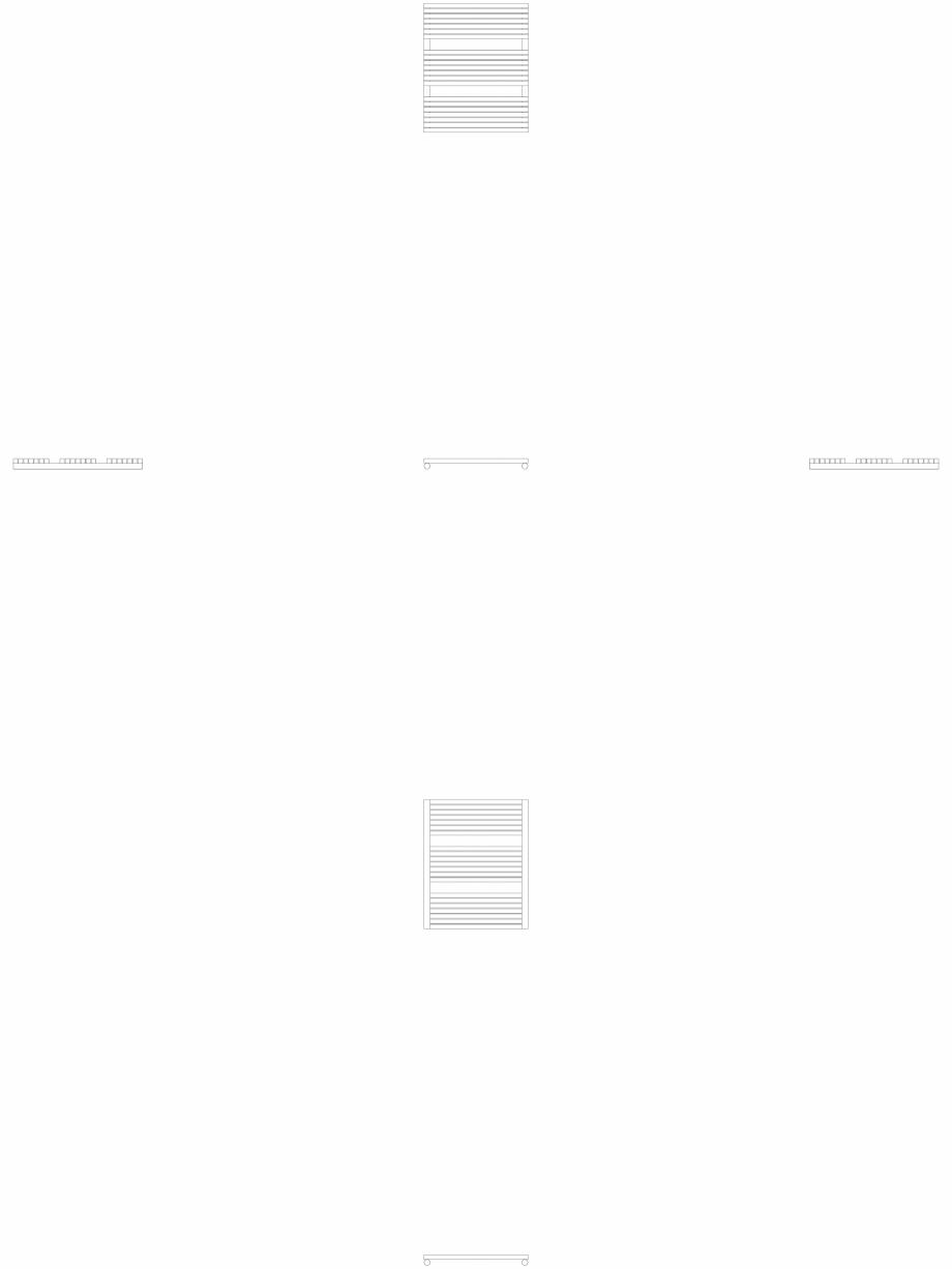 Pagina 1 - CAD-DWG Calorifer decorativ CARRE-CB 745-600 2D VASCO Detaliu de produs