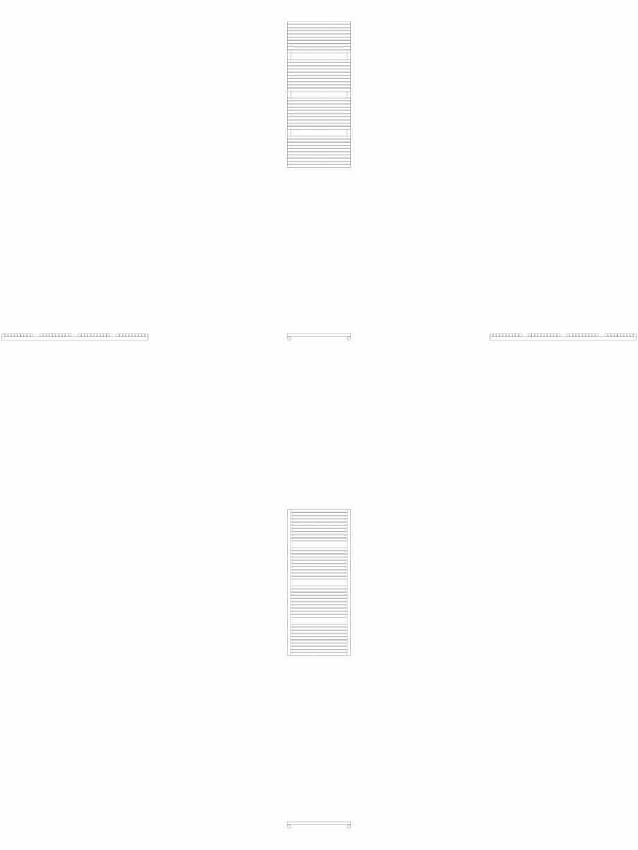 Pagina 1 - CAD-DWG Calorifer decorativ CARRE-CB 1375-600 2D VASCO Detaliu de produs