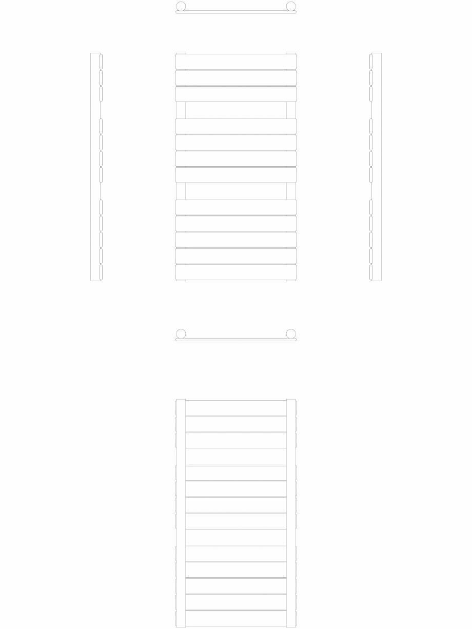 Pagina 1 - CAD-DWG Calorifer decorativ ASTER-HF 850-450 2D VASCO Detaliu de produs ASTER