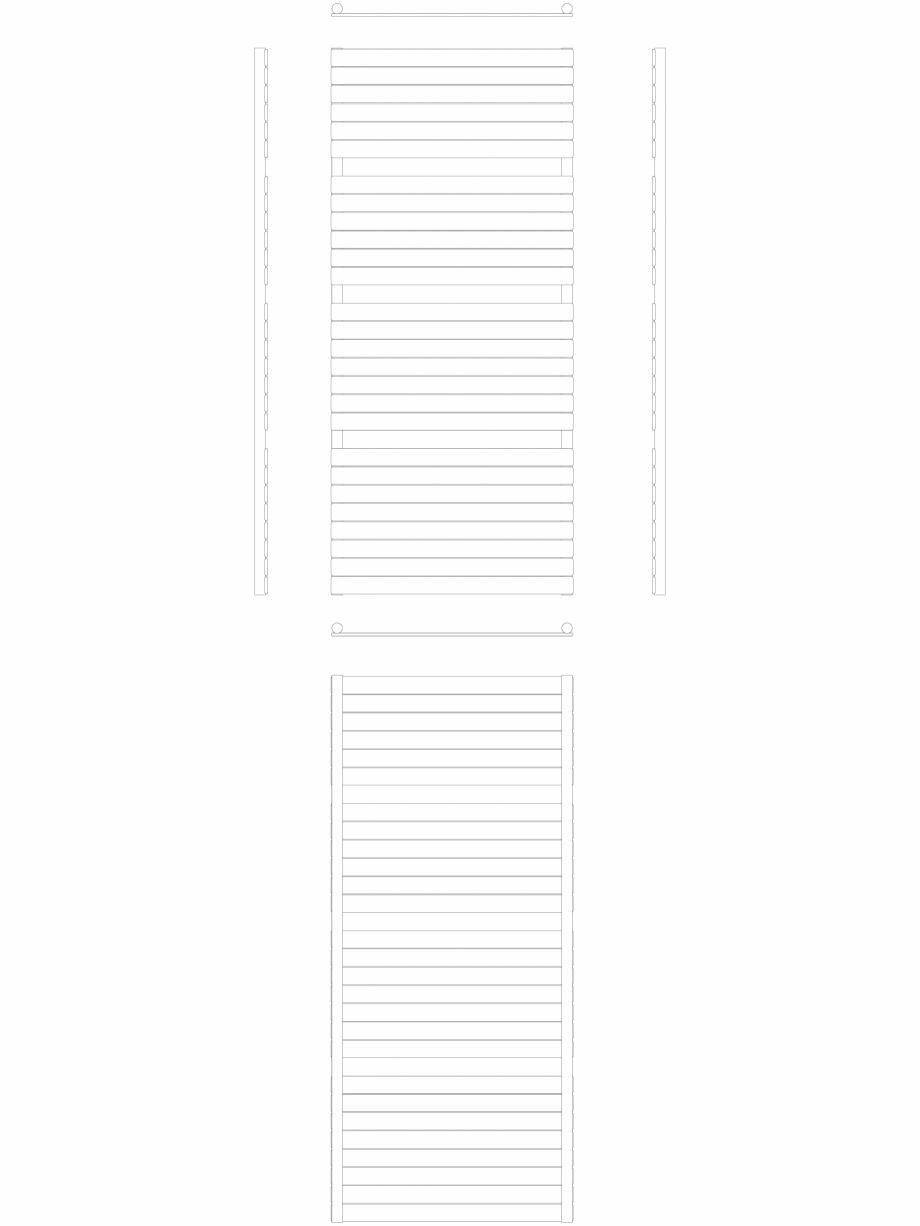 Pagina 1 - CAD-DWG Calorifer decorativ ASTER-HF 1810-800 2D VASCO Detaliu de produs ASTER