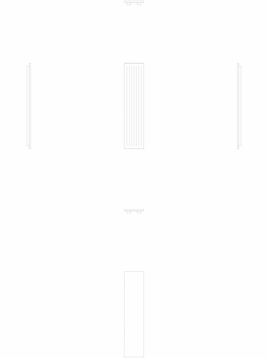 Pagina 1 - CAD-DWG calorifer_decorativ_NIVA-N1L1_1820-420_2D VASCO Detaliu de produs NIVA VERTICAL