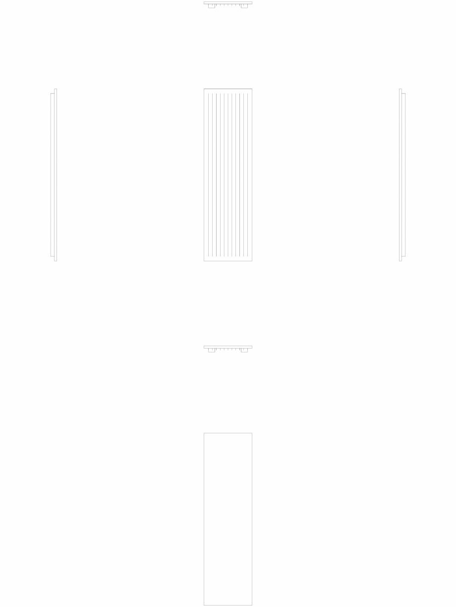Pagina 1 - CAD-DWG calorifer_decorativ_NIVA-N1L1_2220-620_2D VASCO Detaliu de produs NIVA VERTICAL