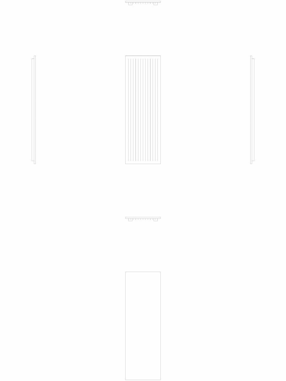 Pagina 1 - CAD-DWG calorifer_decorativ_NIVA-N1L1_2220-720_2D VASCO Detaliu de produs NIVA VERTICAL