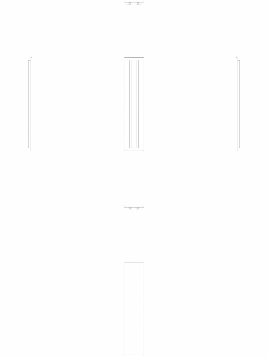 Pagina 1 - CAD-DWG calorifer_decorativ_NIVA-N1L1_2020-420_2D VASCO Detaliu de produs NIVA VERTICAL