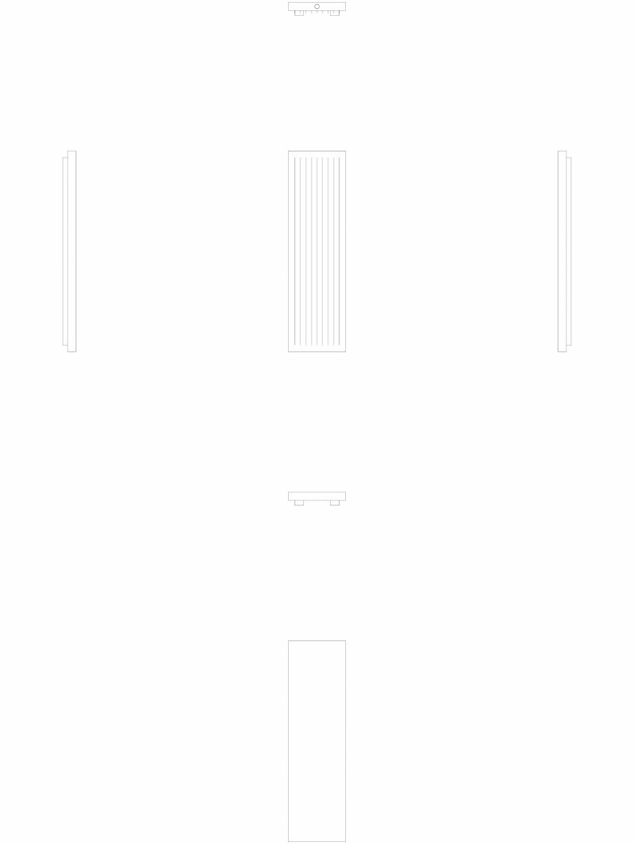 Pagina 1 - CAD-DWG calorifer_decorativ_NIVA-N2L1_1820-520_2D VASCO Detaliu de produs NIVA VERTICAL