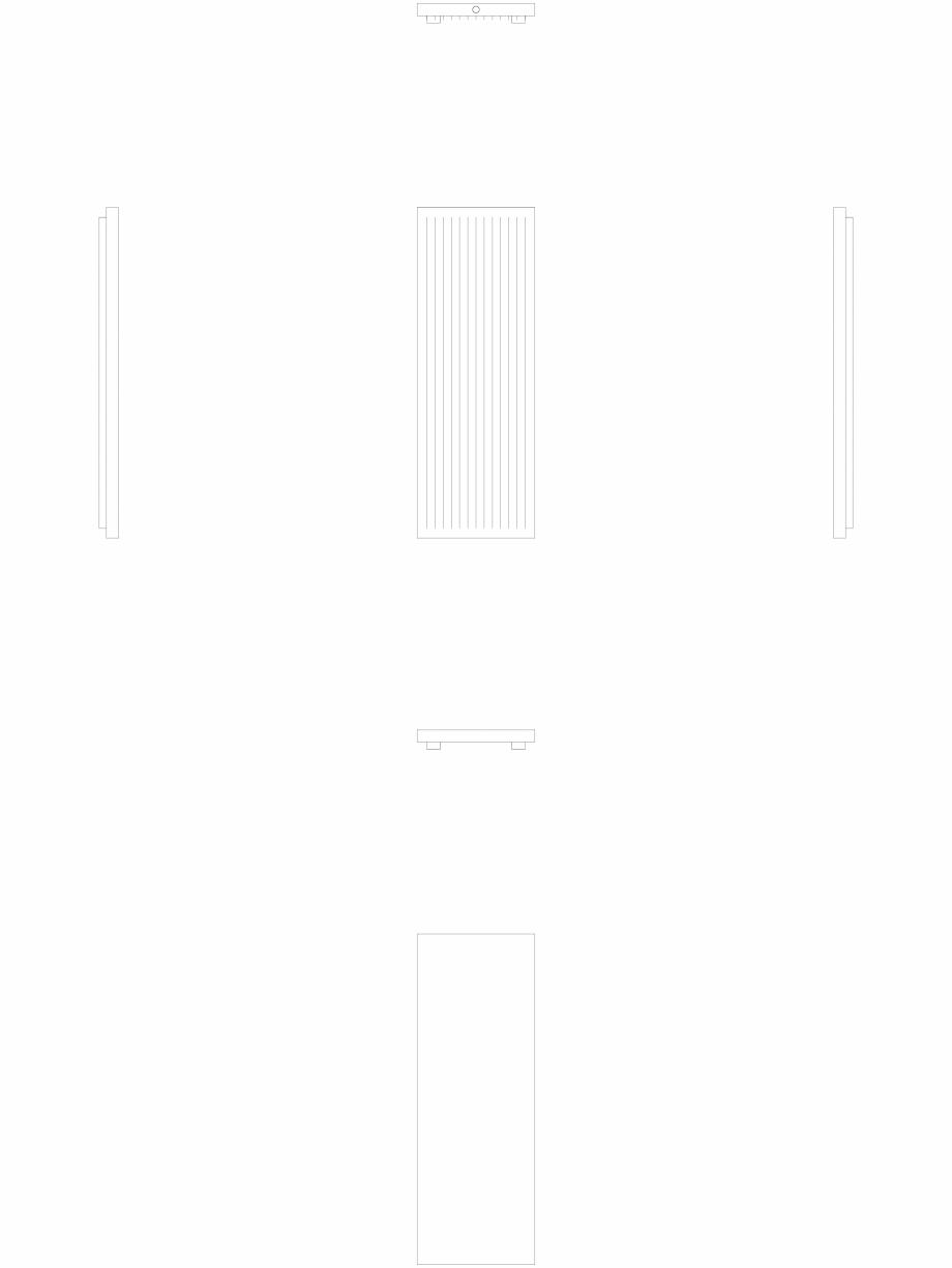 Pagina 1 - CAD-DWG calorifer_decorativ_NIVA-N2L1_2020-720_2D VASCO Detaliu de produs NIVA VERTICAL
