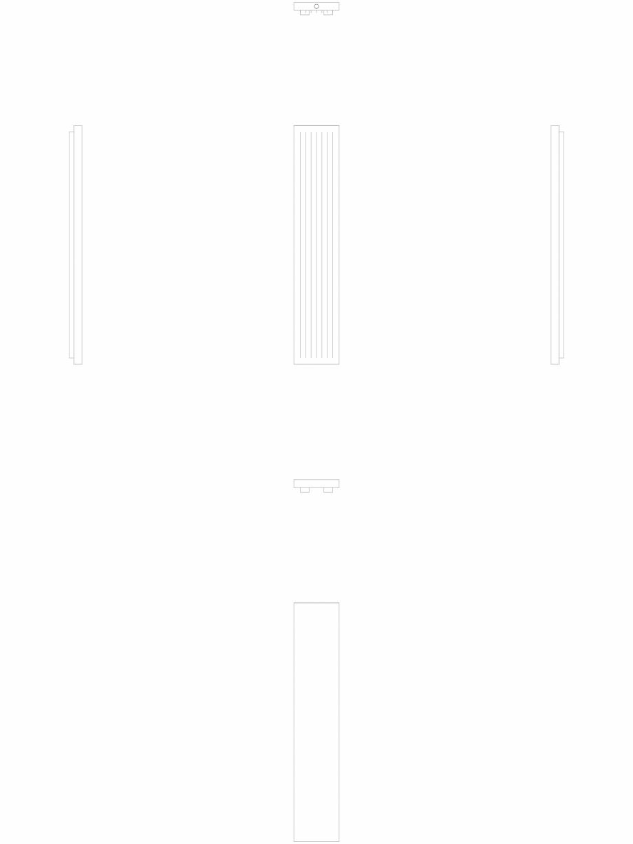 Pagina 1 - CAD-DWG calorifer_decorativ_NIVA-N2L1_2220-420_2D VASCO Detaliu de produs NIVA VERTICAL