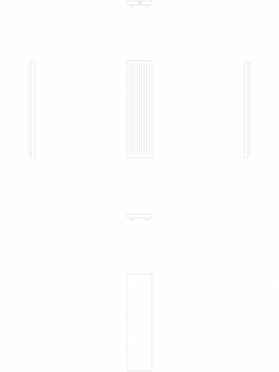 Pagina 1 - CAD-DWG calorifer_decorativ_NIVA-N2L1_2020-520_2D VASCO Detaliu de produs NIVA VERTICAL