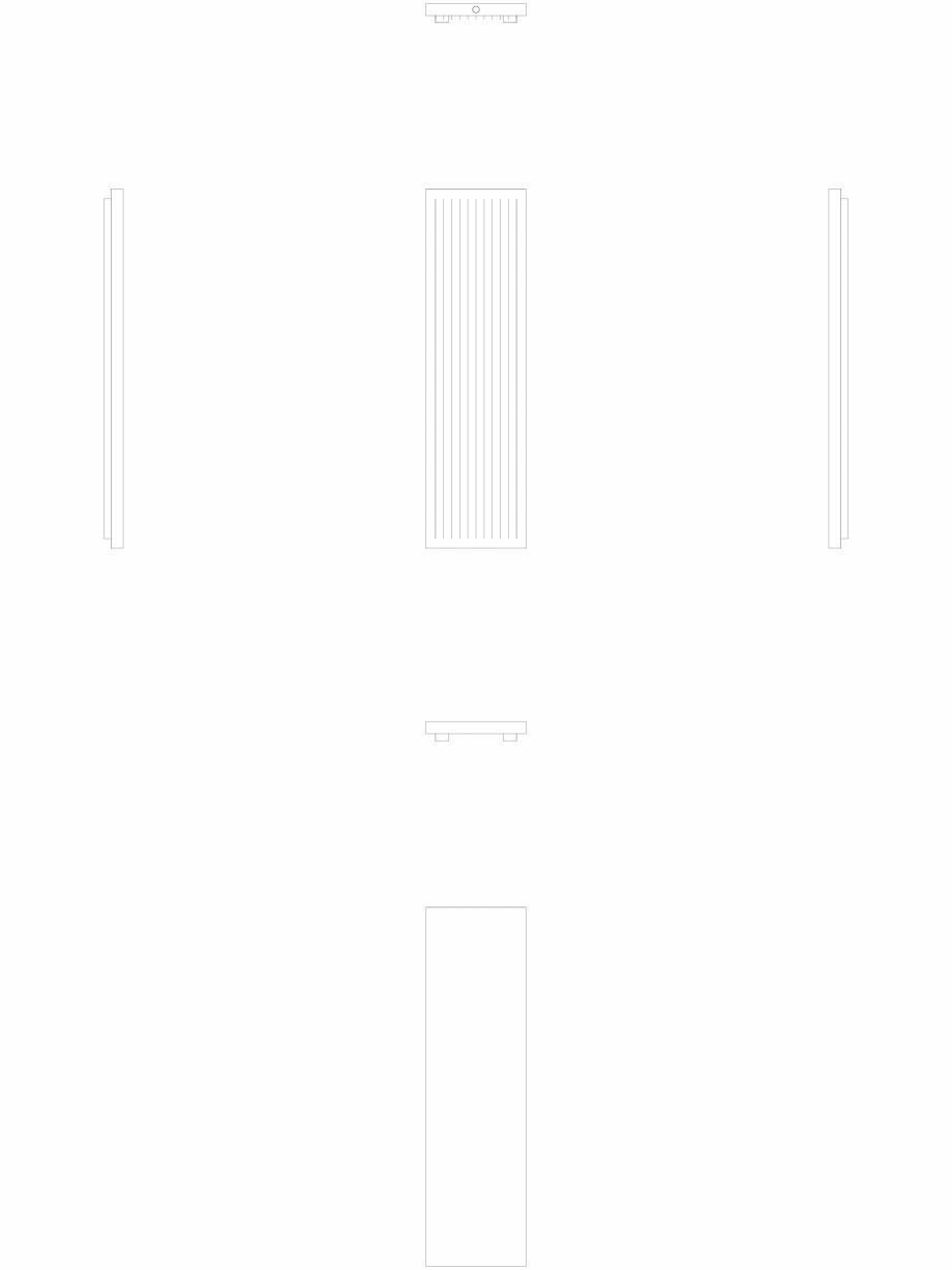 Pagina 1 - CAD-DWG calorifer_decorativ_NIVA-N2L1_2220-620_2D VASCO Detaliu de produs NIVA VERTICAL