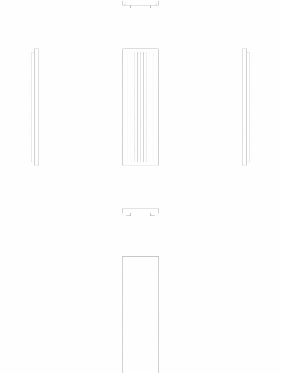 Pagina 1 - CAD-DWG calorifer_decorativ_NIVA-N2L1-ES_2020-620_2D VASCO Detaliu de produs NIVA INOX