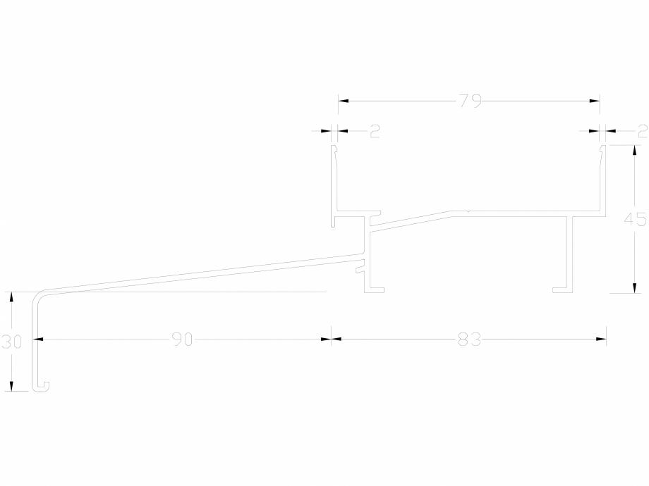 Pagina 1 - CAD-DWG Profil UPR83100 LINIT Detaliu de produs