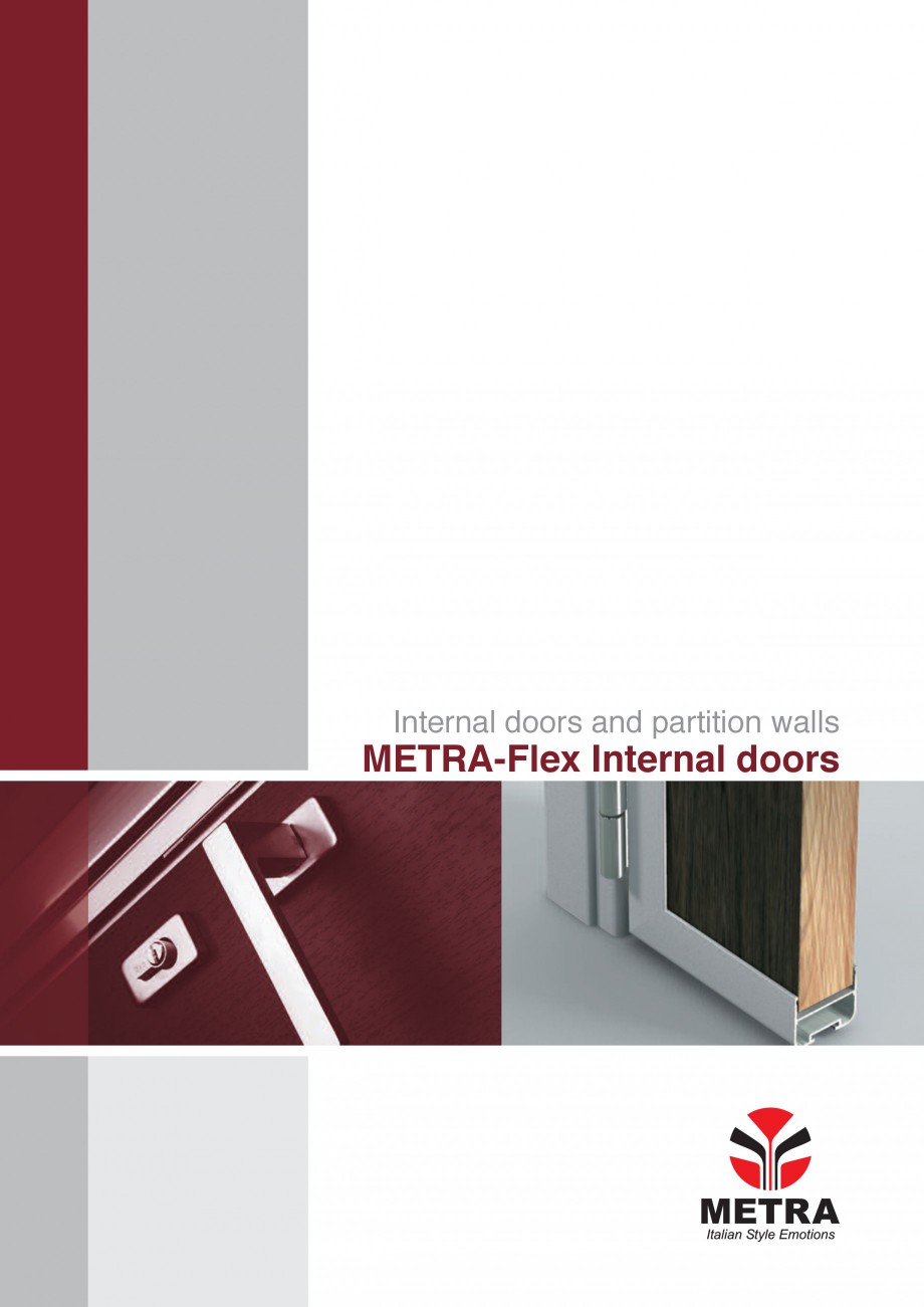 Catalog brosura sisteme aluminiu pentru usi de interior for Usi de interior
