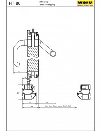 Usi de exterior din aluminiu HT 80