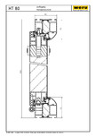 Usi de exterior din aluminiu HT 80 - Sectiune orizontala WERU
