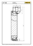 Usi de exterior din aluminiu HT 80 - Sectiune verticala WERU