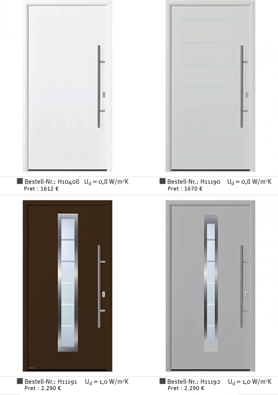 Pagina 2 - Usi de exterior din aluminiu WERU Catalog, brosura Romana : t 1 9 - 2 0mm nl t ir 9 0 2 5...