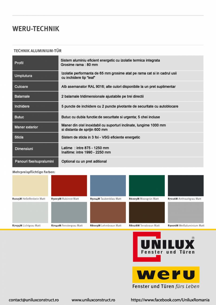 Pagina 4 - Usi de exterior din aluminiu WERU Catalog, brosura Romana