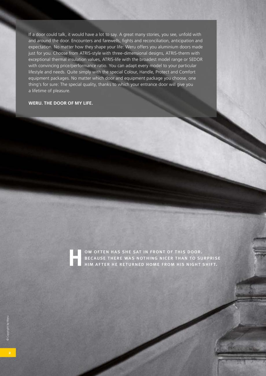 Pagina 2 - Catalog general - Usi de exterior din aluminiu WERU Catalog, brosura Engleza  him after...