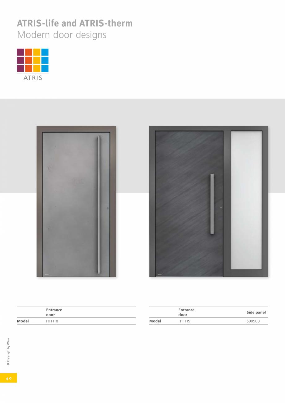 Pagina 4 - Catalog general - Usi de exterior din aluminiu WERU Catalog, brosura Engleza raditional...