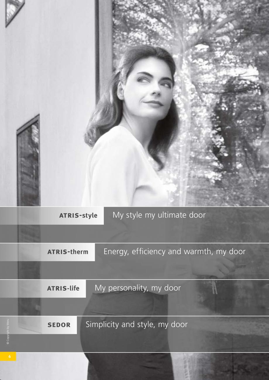 Pagina 7 - Catalog general - Usi de exterior din aluminiu WERU Catalog, brosura Engleza re flush...