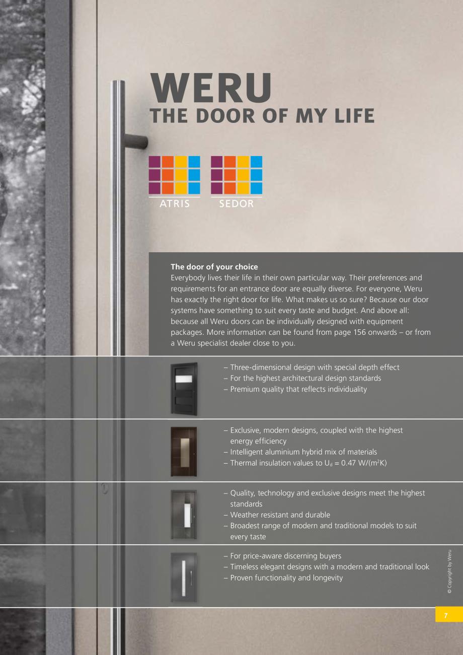 Pagina 8 - Catalog general - Usi de exterior din aluminiu WERU Catalog, brosura Engleza e: Increase ...