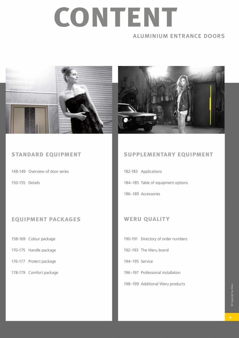 Pagina 10 - Catalog general - Usi de exterior din aluminiu WERU Catalog, brosura Engleza on the...
