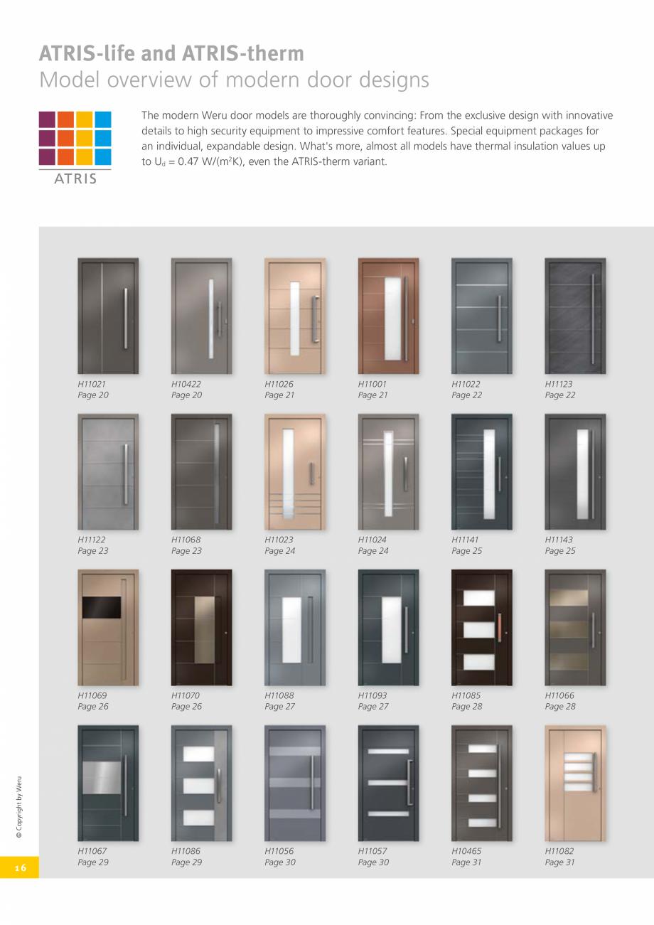 Pagina 17 - Catalog general - Usi de exterior din aluminiu WERU Catalog, brosura Engleza 0500 ...
