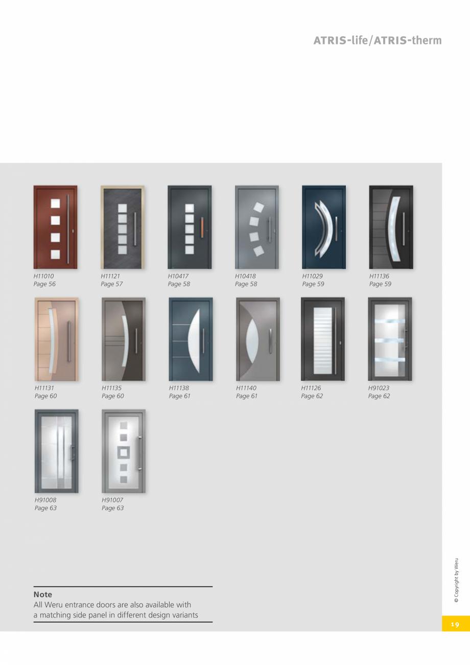 Pagina 20 - Catalog general - Usi de exterior din aluminiu WERU Catalog, brosura Engleza  in the...