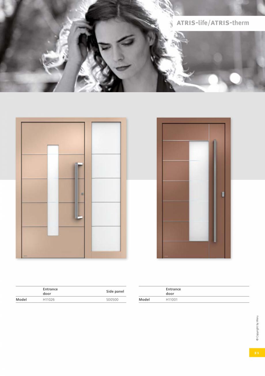 Pagina 22 - Catalog general - Usi de exterior din aluminiu WERU Catalog, brosura Engleza e sure you ...