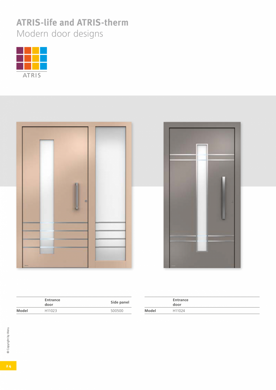 Pagina 25 - Catalog general - Usi de exterior din aluminiu WERU Catalog, brosura Engleza 82  H11130 ...